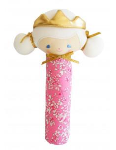 hochet-princesse-portia-tissu-rose-a-fleurs-alimrose