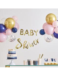 Kit Guirlande Baby Shower et Ballons Fille ou Garçon