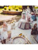 8 Gobelets Rose Blanc Petite Merveille Fille Déco Gender Reveal Party