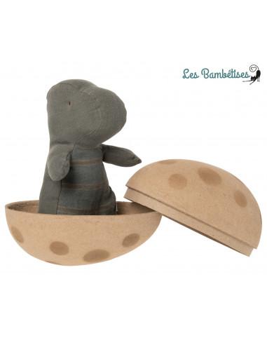 Petit Doudou Dino Vert dans son Oeuf Maileg