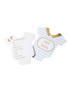 10 Cartes Pronostics Baby Shower Garçon Jeux Baby Shower