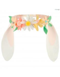 Bandeau Oreilles de Lapin Fleurs en Feutrine Meri Meri