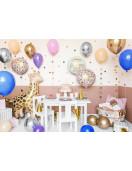 Ballon Aluminium Rond Fleurs Happy Birthday Déco Anniversaire