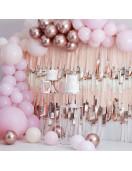 Kit Arche 200 Ballons Rose Gold, Rose Pastel Déco Rose Or