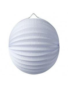 Lampion boule en papier blanc 20 cms