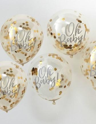 Ballons Baby Shower avec Confettis